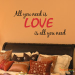 Decaleco Wall Decals - All You Need Is Love Quote
