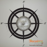 Decaleco Wall Decals - Nautical Compass