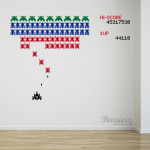 Decaleco Wall Decals - Retro Arcade Game Galaga