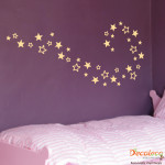 Decaleco Wall Decals - Set of 40 Stars