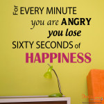 Decaleco Wall Decals - Sixty Seconds of Happiness Quote