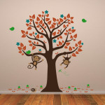 Decaleco Wall Decals - Tree and Monkeys