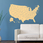Decaleco Wall Decals - USA Map