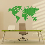 Decaleco Wall Decals - World Map